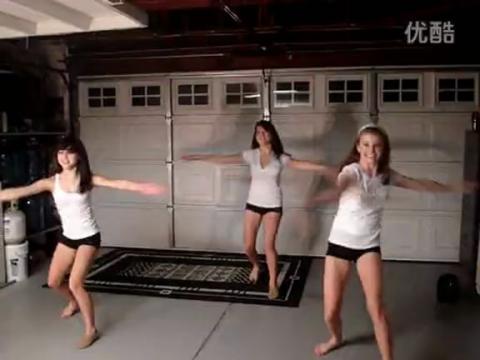 三个美女性感火辣舞蹈