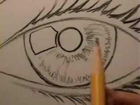 【手绘画教程-如何画逼真眼睛 简单素描】 学到来~ (分享自