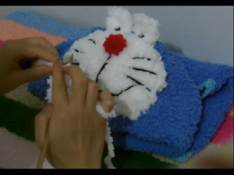 【diy手工编织教程:宝宝机器猫马甲织法 编织视频大全】 (分享自