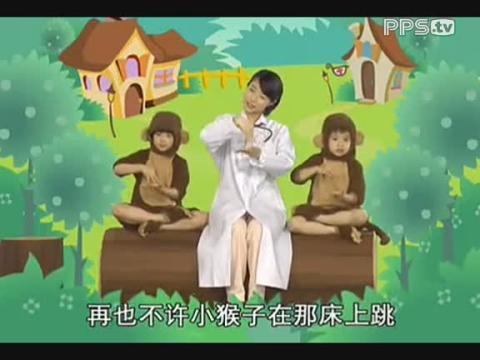 【手指操-三只小猴子  】 (分享自
