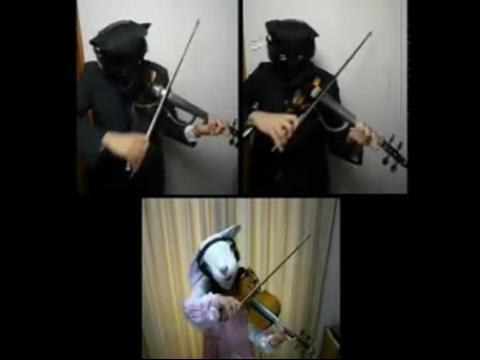 pps视频:摇滚卡农(小提琴三重奏)