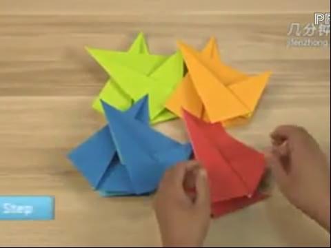 幼儿折纸手工吉它