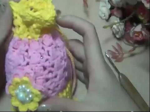 编织-手工包包的钩法 蝴蝶花系列糖果包1
