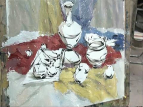 美术高考1水粉静物步骤教学示范视频