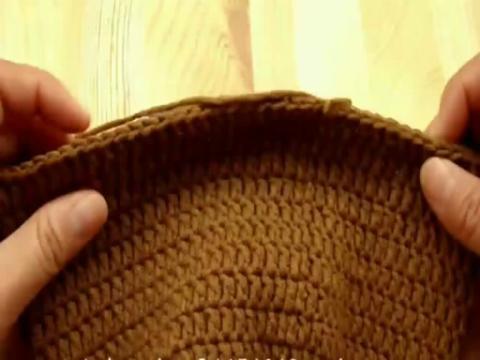 编织-自制帽子的钩法 小熊帽子的钩法1