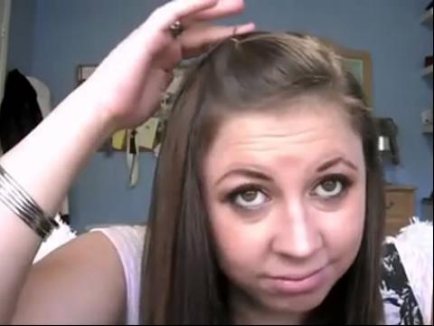 教盘头发的视频 简单扎头发视频 扎头发视频图片