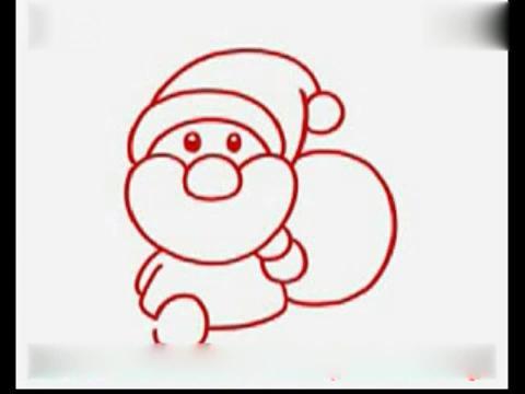 宝宝学画画:简笔画教程-圣诞老人简笔画教程-学画画 圣诞老人 2