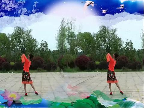 醉月亮 春英广场舞 背面演示与分解(超清)