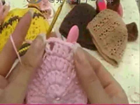 【完美叶子】编织视频教程54集-宝宝帽子-小老虎帽子