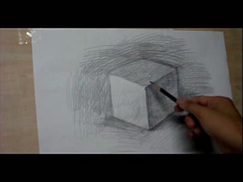 光影素描入门第1课,正方体的光影画法