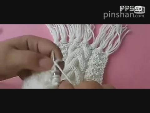 蟠桃花男士围巾的织法视频