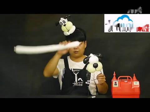 魔术气球教程图解小花