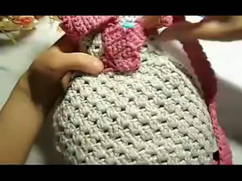 【钩针编织包包 宝宝双肩包的钩织方法】