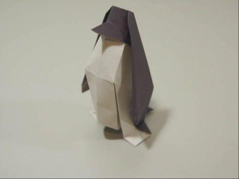 pps视频:折纸教程-企鹅折法 diy折纸大全