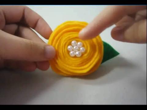螺旋玫瑰 无纺布手工小制作