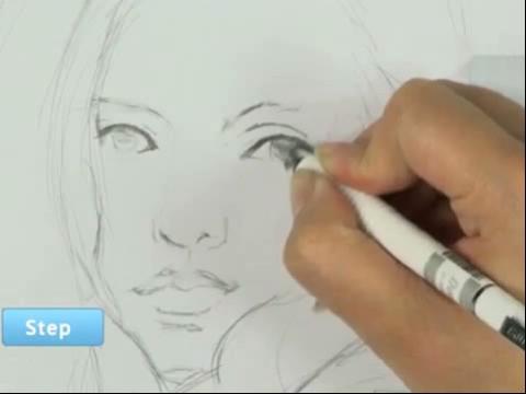 手绘画教程-如何画卡通画人物眼睛