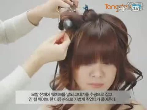五角星的发型编扎视频