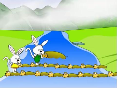 羊和兔子卡通图片