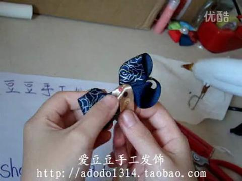 手工diy发夹制作 扭扭蝴蝶结做法