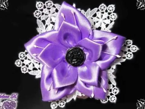 手工制作 精致时尚高档丝带花缎带花绸缎花丝带绣