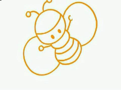 如何画蜜蜂简笔画教程_动物简笔画-多彩儿童网