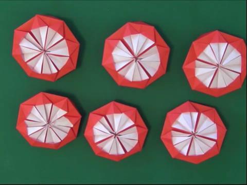 折大红花步骤图解 皱纹纸折大红花图解