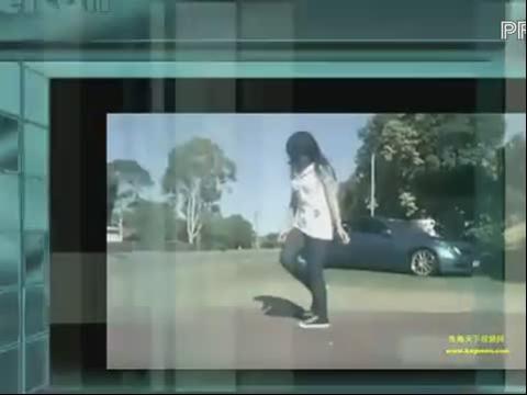 国外跳曳步舞的女生们 鬼步舞
