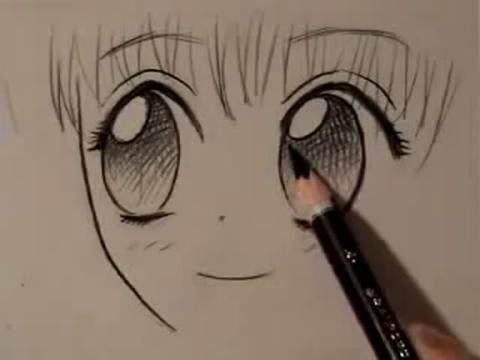 手绘画教程-如何画卡通人物眼睛(四种方式)