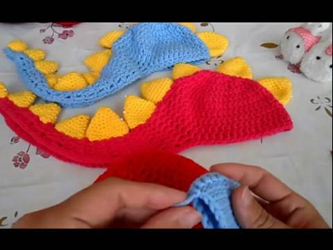 宝宝帽子编织视频- 可爱的恐龙小帽子