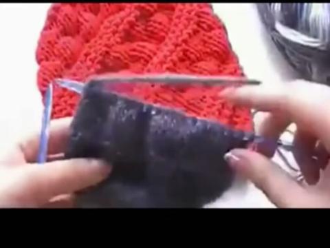 帽子 编织方法 气泡针的毛线帽子编织花