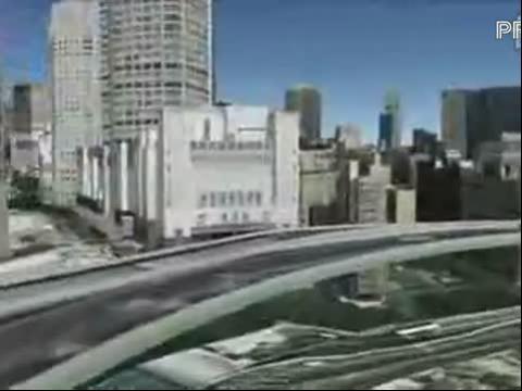 Google Earth的3D城市演示