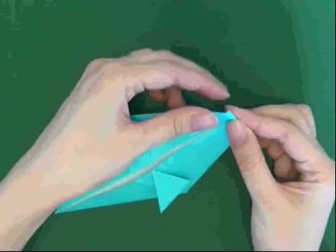 折纸大全◆diy手工折纸立体海豚