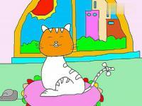 动物简笔画教程 小猫的画法