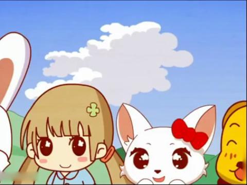 小白兔和胡萝卜的照片