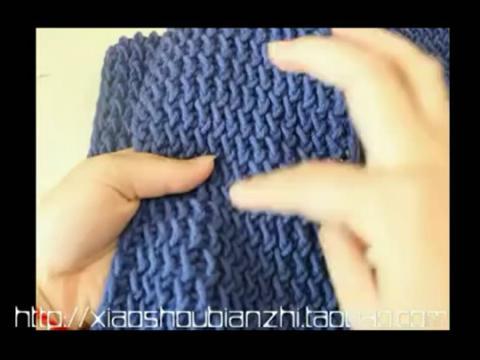 水浪花围巾的织法 手工编织围巾视频花样方法教程