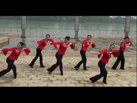 广场舞教学《醉月亮》含背面分解动作