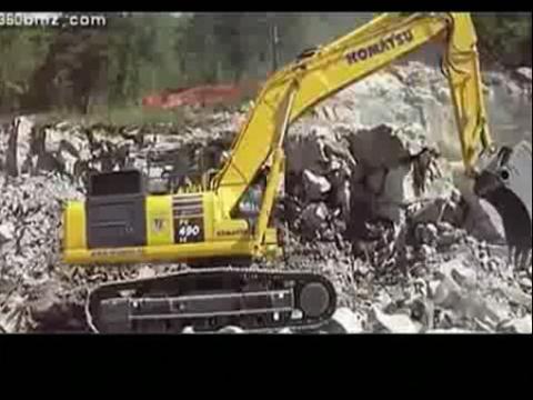 小松挖掘机视频
