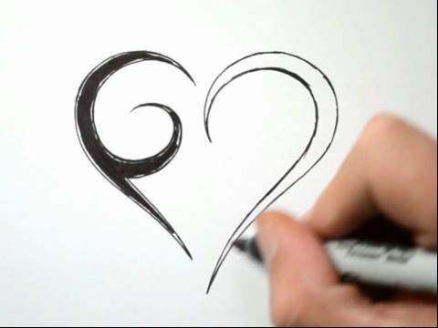 画画速描纹身图腾教学图片