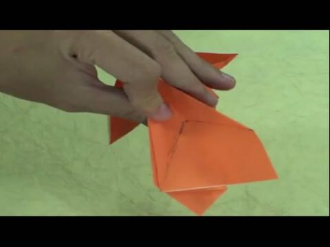 幼儿手工折纸:老虎的手工折法!