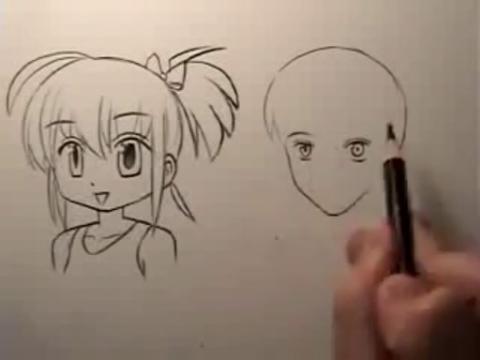 动漫人物画法素描简笔画设计大全98.教你画漫画