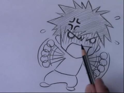动漫人物画法素描简笔画设计大全48.教你画漫画