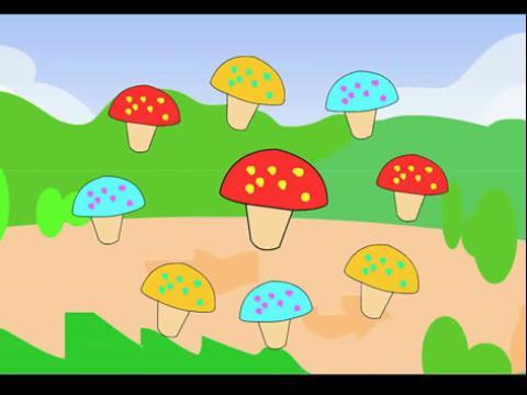采蘑菇小姑娘双手简谱展示