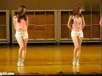 韩国性感背心超短裤 韩国美女啦啦队热舞