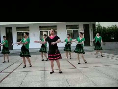 广场舞蹈视频-棉花塘广场舞醉月亮表演