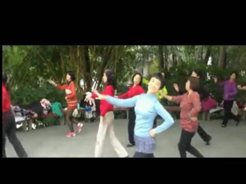 竹林广场舞雕花的马鞍