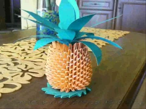 手工制作立体折纸花球教程图解