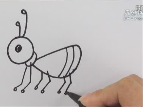 蚂蚁卡通简笔画 蚂蚁卡通图片简笔画 蚂蚁的画法简笔画