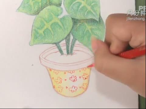如何用彩色铅笔画树展示
