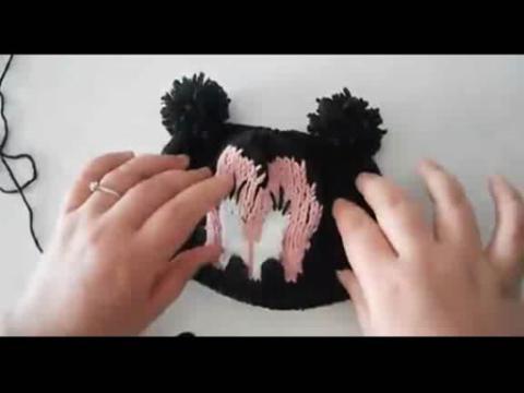 帽子编织视频 米奇宝宝帽子棒针织法