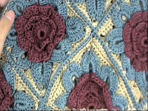 钩针编织包包教程 牡丹花包